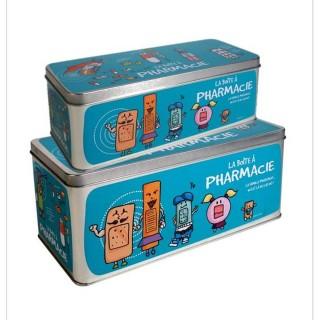 2 Boîtes à pharmacie - 27 x 12 cm - Bleu