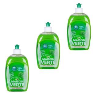 Lot de 3 Liquides vaisselle Super Dégraissant - Fraicheur basilic et thym - 500 ml