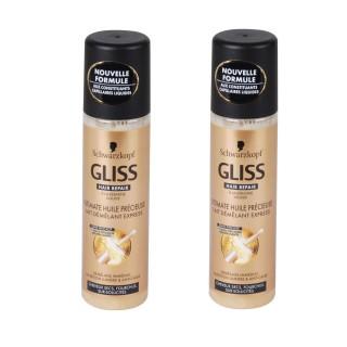 Lot de 2 Laits démêlants Express - Gliss Ultimate Huile Précieuse - 200 ml