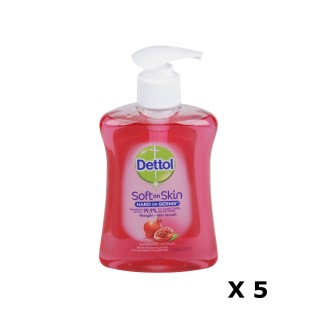 Lot de 5 Gels Lavants Mains Soft on Skin - Parfum Framboise et grenade