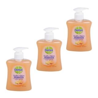 Lot de 3 Gels Lavants Mains Soft on Skin - Parfum Miel et Abricot