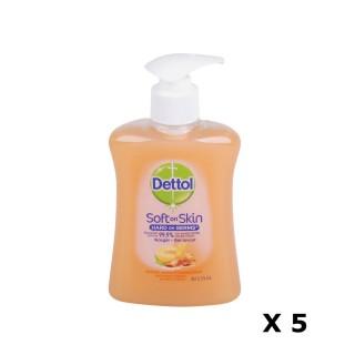 Lot de 5 Gels Lavants Mains Soft on Skin - Parfum Miel et Abricot