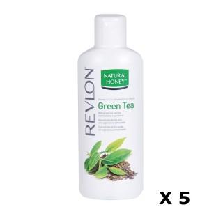 Lot de 5 Gels douche Thé Vert - 650 ml