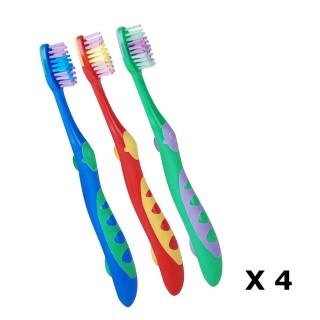 Lot de 12 Brosses à dents pour enfant - Poils souples