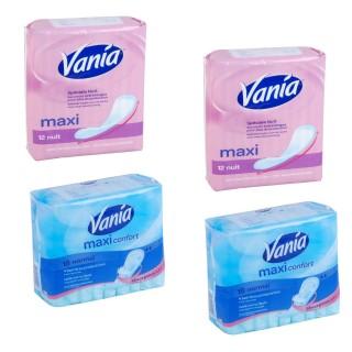 Lot de 60 serviettes hygiéniques Vania Maxi confort - 36 normal et 24 nuit