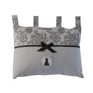 Tête de lit Black Dress - 45 x 70 cm - Gris et noir