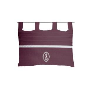 Tête de lit Boudoir - 45 x 70 cm - Violet