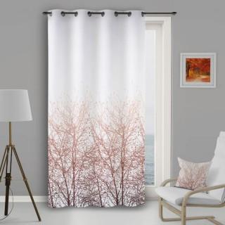Rideau à œillets Forest - 135 x 250 cm - Blanc