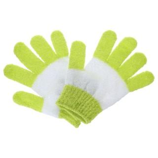 2 Gants de massage exfoliant - Vert