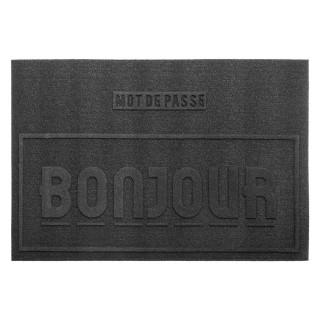 Paillasson Bonjour - 60 x 40 - Noir
