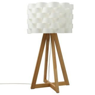 Lampe à poser en bambou Moki - H. 55 cm