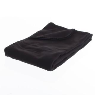 Plaid polaire - 125 x 150 cm - Noir
