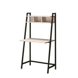 Bureau en métal et bois Moreno - 85 x 140 cm - Blanc