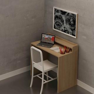 Bureau en bois Etao - 90 x 87 cm - Beige
