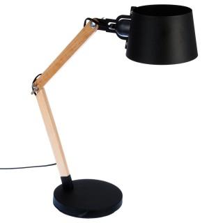 Lampe à poser en bois Lino - H. 60 cm - Noir