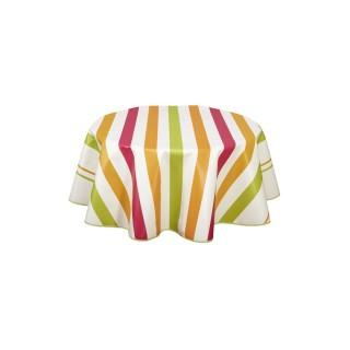 Nappe en toile cirée ronde Ascain - Diam. 135 cm - Multicolore