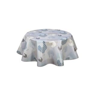 Nappe en toile cirée ronde Cocotte - Diam. 135 cm - Bleu
