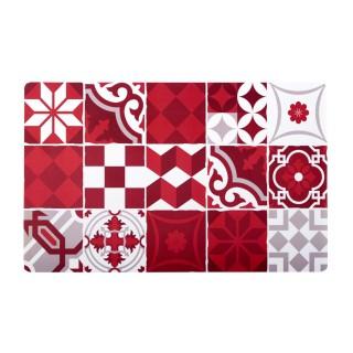 Set de table Décocéram - 28 x 43 cm - Rouge