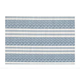 Set de table Navajo - 30 x 45 cm - Bleu et blanc