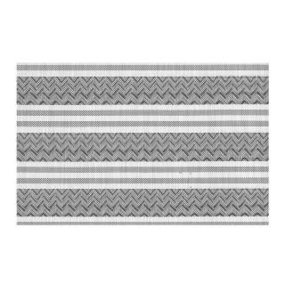 Set de table Navajo - 30 x 45 cm - Gris et blanc