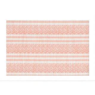 Set de table Navajo - 30 x 45 cm - Corail et blanc