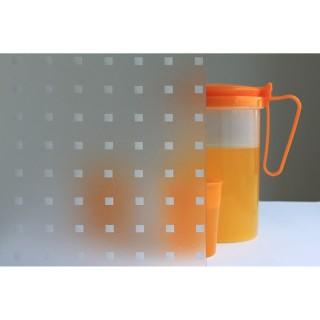 Film décoratif vitrostatique Square - 150 x 67,5 cm - Transparent