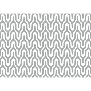Adhésif décoratif Graphic - 200 x 67,5 cm - Argent