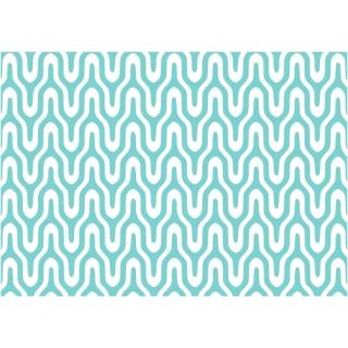 Adhésif décoratif Graphic - 200 x 45 cm - Bleu