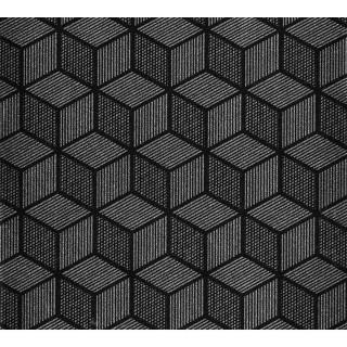 Adhésif décoratif Cubic - 200 x 45 cm - Noir