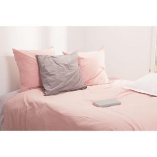 Housse de couette et 2 Taies d'oreiller Unis - 240 x 220 cm - Rose