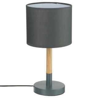 Lampe à poser en bois Heva - H. 37 cm - Gris