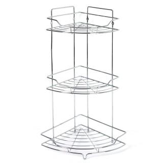 Etagère de douche ou baignoire en métal - 3 Niveaux - 25 x 56 cm