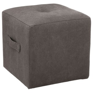Pouf carré district Niko - 38 x 38 cm - Gris foncé