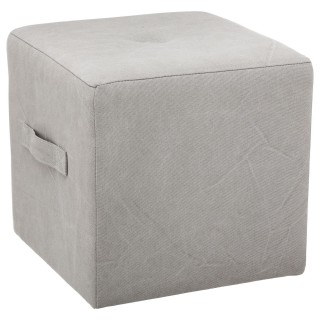 Pouf carré district Niko - 38 x 38 cm - Gris clair