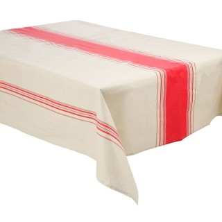 Nappe anti-tâches Bistrot - 240 x 145 cm - Rouge