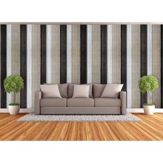 Adhésif mural décoratif Rayures - 300 x 90 cm - Taupe
