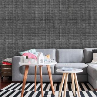 Adhésif mural décoratif Textile - 300 x 90 cm - Gris