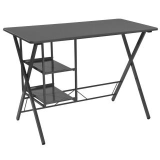 Bureau en métal avec 2 Etagères Design - 105 x H. 75 cm - Noir