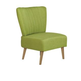 Chaise de salon vintage Louise - H. 82 cm - Vert