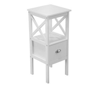Table de chevet un tiroir Tropic - 34 x 79 cm - Blanc