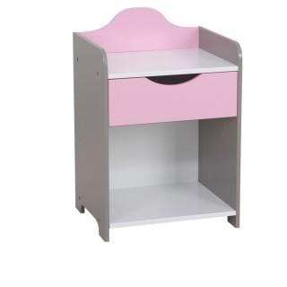 Table de chevet enfant Girl - 36 x H. 54 cm - Rose