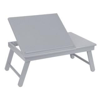 Plateau pliable et inclinable pour tablette ou ordinateur portable - Gris
