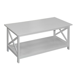 Table basse Tropic - 100 x H. 45 cm - Blanc