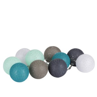 Guirlande lumineuse 10 boules D'o - Diam. 6 cm - Bleu