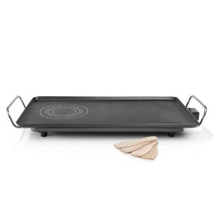 Plancha électrique en fonte d'aluminium Hot-zone XXL - Thermostat réglable - 60 x 36 cm