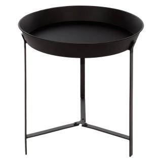 Table d'appoint Teeco - Métal - Diam. 44 cm - Noir