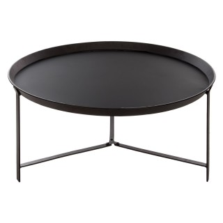 Table basse Teeco - Métal - Diam. 77 cm - Noir