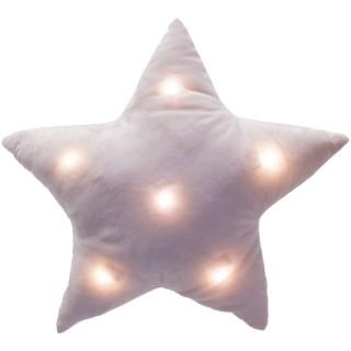 Coussin à LED enfant Etoile - H. 42 cm - Rose