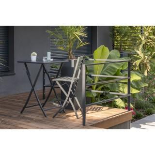Table haute de jardin pliante 2 Personnes Marius - 70 x H. 100 cm - Anthracite