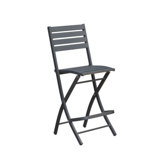 Chaise haute pliante de jardin Marius - 46 x H. 110 cm - Anthracite